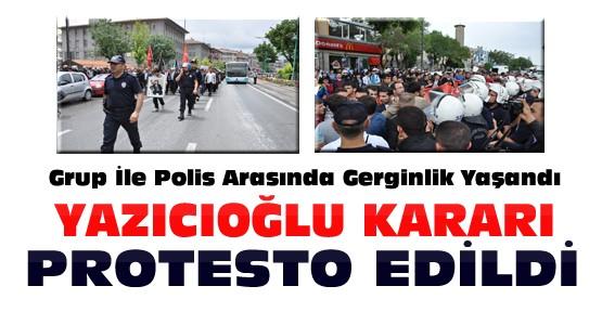 Konya'da Muhsin Yazıcıoğlu Kararına Protesto Gösterisi