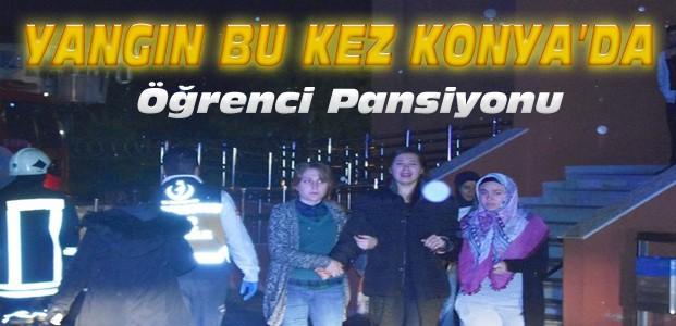 Konya'da Öğrenci Pansiyonunda Yangın