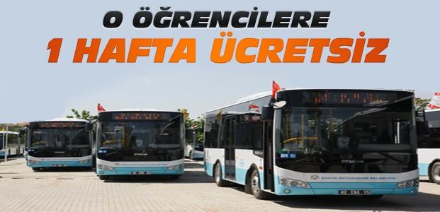Konya'da Öğrencilere Toplu Ulaşım 7 Gün Ücretsiz