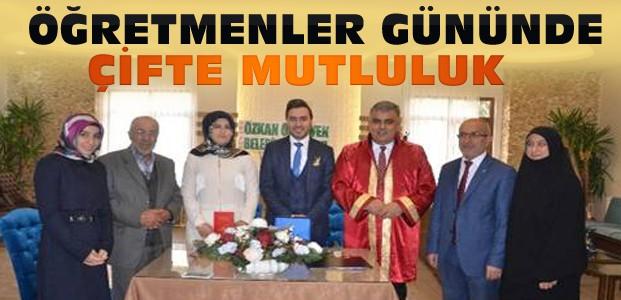 Konya'da Öğretmenler Öğretmenler Gününde Evlendi