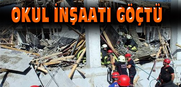 Konya'da Okul İnşaatı Çöktü:1 Ölü 1 Yaralı