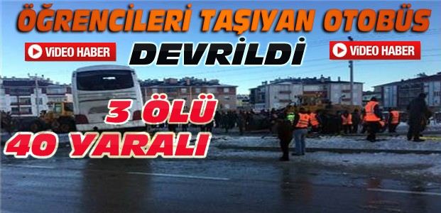 Konya'da Otobüs Devrildi-3 Ölü 40 Yaralı-VİDEO