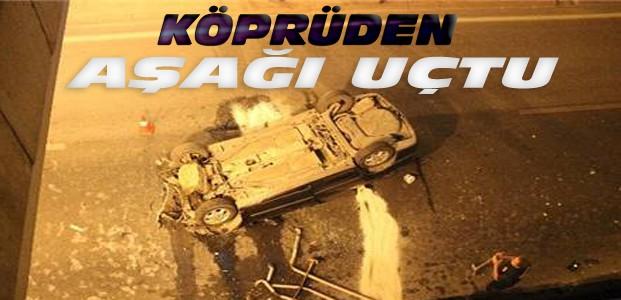 Konya'da Otomobil Alt Geçide Uçtu