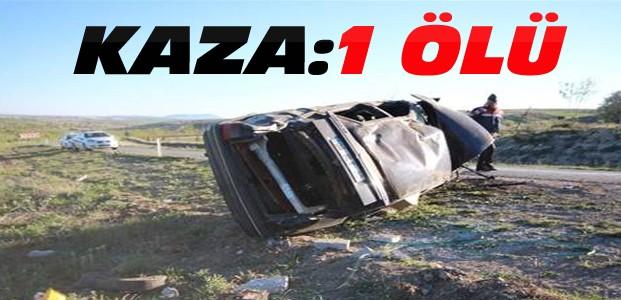 Konya'da otomobil devrildi 1 kişi öldü