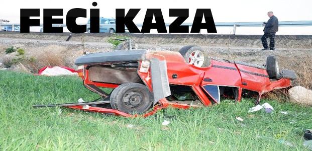 Konya'da otomobil şarampole uçtu:1 ölü 5 yaralı