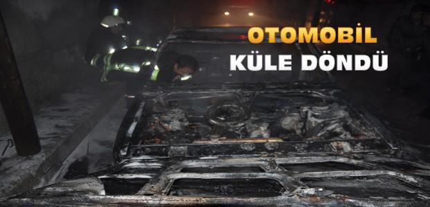 Konya'da Park Halindeki Araç Yandı