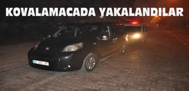Konya'da Polis Şüpheli Kovalamacası: 3 Gözaltı