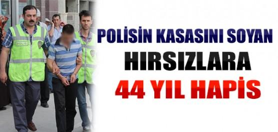 Konya'da Polisin Kasasını Soyan Hırsızlara 44 Yıl Hapis