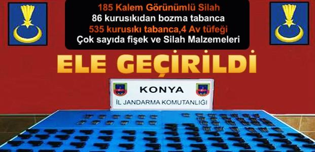 Konya'da Silah Operasyonu:9 Gözaltı