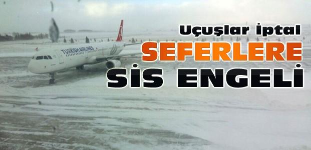 Konya'da Sis Nedeniyle Uçak Seferleri İptal Edildi