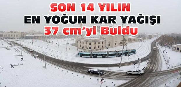 Konya'da Son 14 Yılın En Yüksek Kar Yağışı