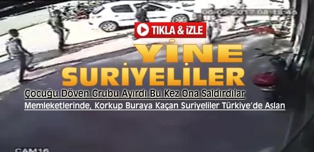 Konya'da Suriyeliler Kavgayı Ayıran Esnafa Saldırdı-VİDEO
