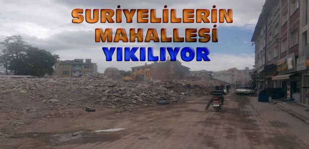 Konya'da Suriyelilerin Mahallesinde Yıkım