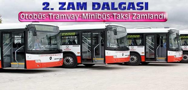 Konya'da Toplu Ulaşıma Zam