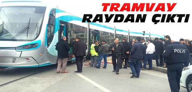 Konya'da Tramvay Raydan Çıktı