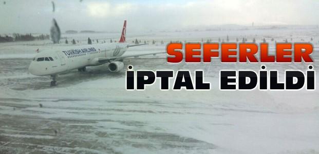 Konya'da Tüm Uçak Seferleri İptal Edildi