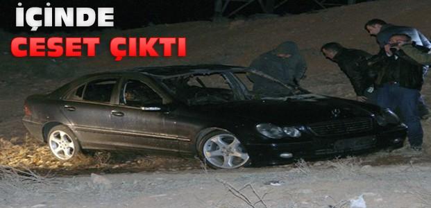 Konya'da yanan aracın içinden ceset çıktı