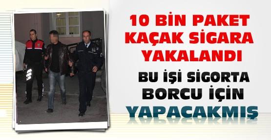 Konya'da Yapılan Uygulamada 10 Bin Paket Kaçak Sigara Yakalandı