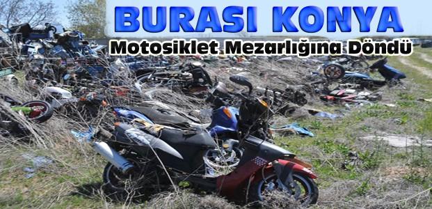 Konya'da Yediemin Otoparkında Motosiklet Doldu