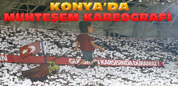 Konya'daki Beşiktaş Maçında Darbe Kareografileri