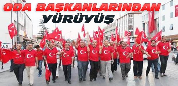 Konya'daki Esnaf Oda Başkanlarından Yürüyüş