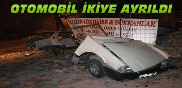 Konya'daki Feci Kazada Otomobil 2'ye Ayrıldı