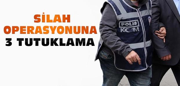 Konya'daki silah operasyonunda 3 kişi tutuklandı