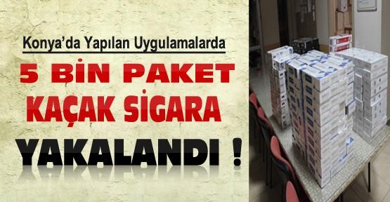 Konya'daki Uygulamalarda 5 Bin Paket Kaçak Sigara Ele Geçirildi