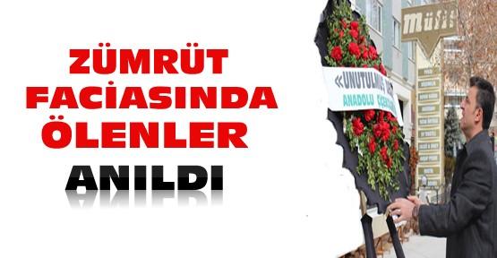 Konya'daki Zümrüt Apartmanı Faciasında Ölenler Anıldı
