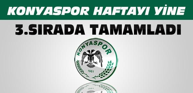 Konyaspor Bu Haftayı da 3. Sırada Tamamladı