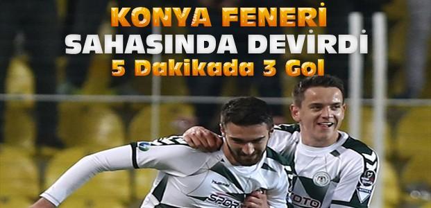 Konyaspor Fenerbahçeyi İstanbul'da Devirdi