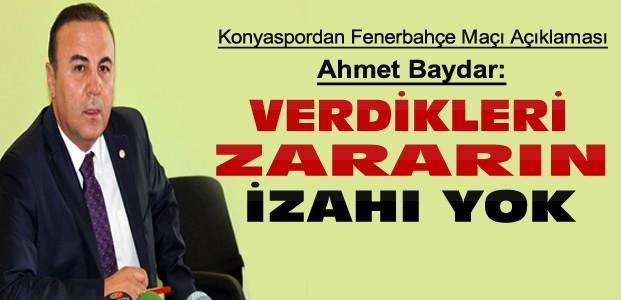 Konyaspordan Fenerbahçe seyircisine tepki