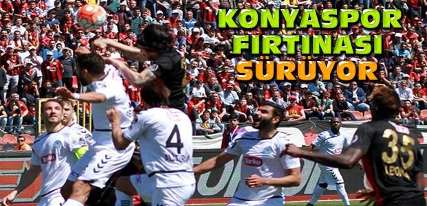 Konyasporu Eskişehirspor da durduramadı
