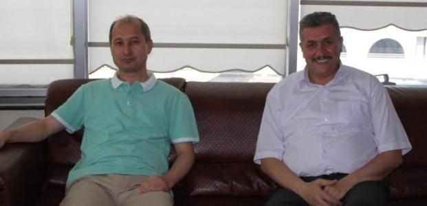 KSMMMO Başkanı Turan'a, Özbek'ten Ziyaret