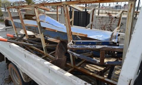 Kulu'da demir hırsızlığı