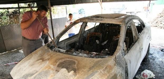 Garajdaki Otomobil Kundaklandı