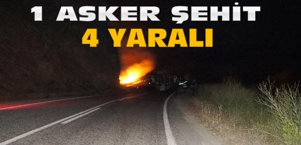 Mardin'de Mayınlı Saldırı:1 Asker Şehit 4 Yaralı