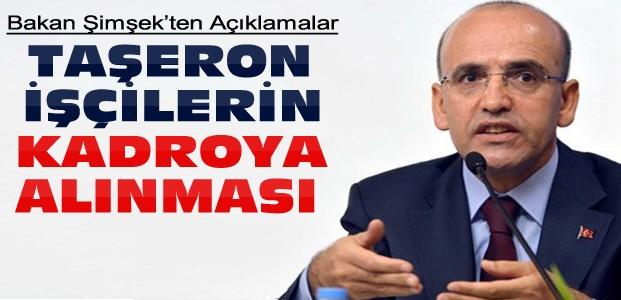 Mehmet Şimşek'ten Taşeron İşçi Açıklaması