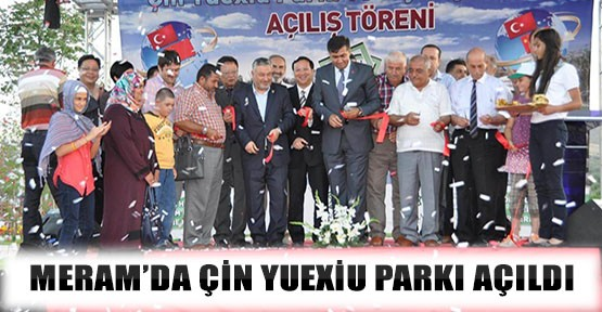 Meram'a Çin Parkı Açıldı
