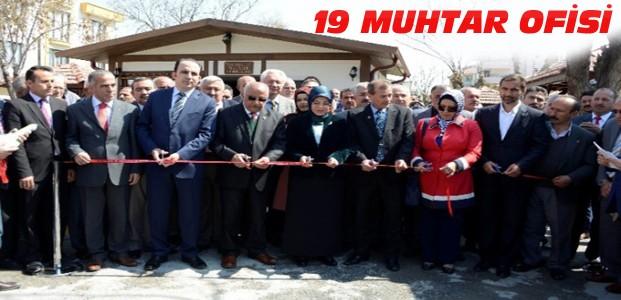 Meramda 19 Muhtar Ofisi Hizmete Açıldı
