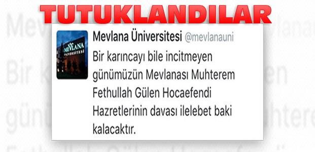 Mevlana Üniversitesinde O Yazıyı Yazanlar Tutuklandı