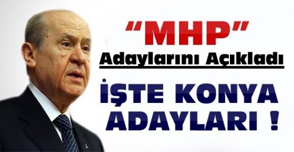 MHP'nin Konya Milletvekili  Adayları-Liste