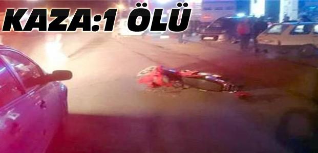 Motosiklet pikapla çarpıştı:1 kişi öldü