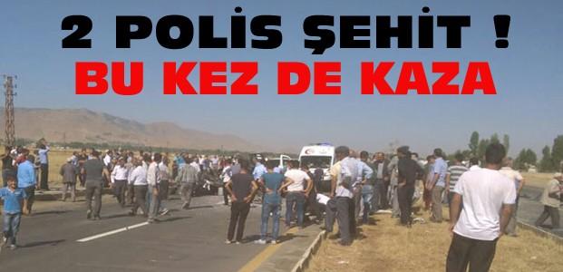 Muş'tan Acı Haber:2 Polis Kazada Şehit Oldu