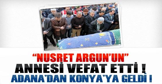 Nusret Argun'un Annesi Vefat Etti Argun Cenazeye Katıldı