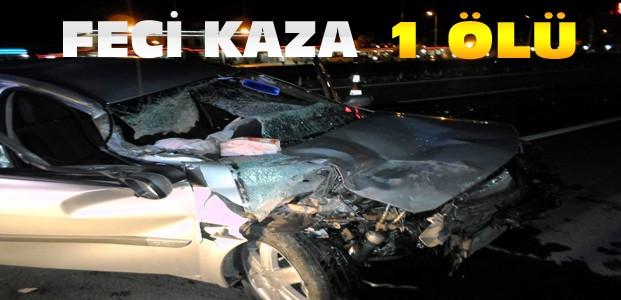 Otomobil TIR'a Arkadan Çarptı:1 Ölü