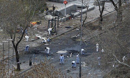 Patlamanın ardından Ankara