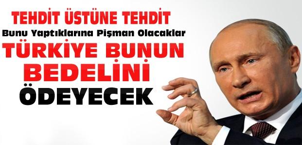 Putin:Türkiye Bunun Bedelini Ödeyecek