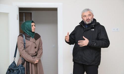 Şehit ailesine ev alındı
