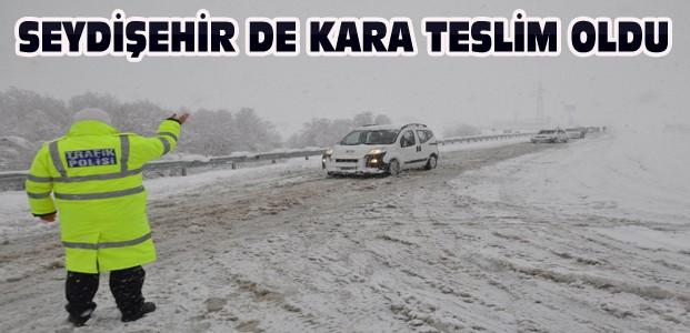 Seydişehir'de Kar Yağışı